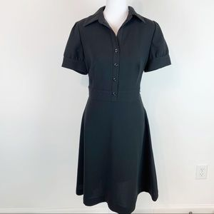 Calvin Klein puff sleeve fit and flare shirtdress